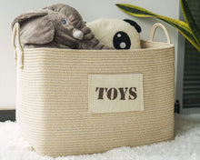 Load image into Gallery viewer, Toy Basket Cotton Woven Rope Basket for Playroom