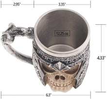 Load image into Gallery viewer, Viking Stainless Steel Skull Coffee Mug