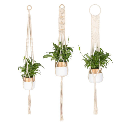 3 Pcs Vintage Macrame Plant Hanger For Indoor Flower Pots