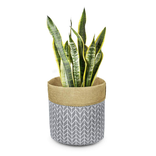 Plant Basket Indoor Planter Up to 12 Inch Flower Pot Grey