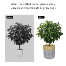 Load image into Gallery viewer, Plant Basket Indoor Planter Up to 12 Inch Flower Pot Grey Home Decor