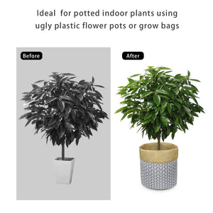Plant Basket Indoor Planter Up to 12 Inch Flower Pot Grey Home Decor