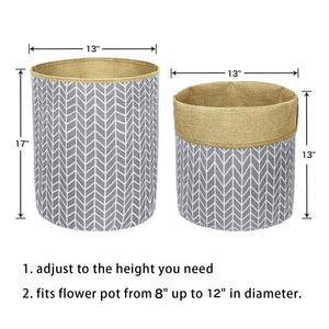 Plant Basket Indoor Planter Up to 12 Inch Flower Pot Grey Size