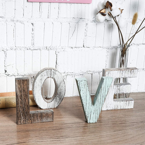 Wood Love Signs for Home Table Bedroom Floating Shelves Decor Wall Hangings timeyard