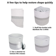 Load image into Gallery viewer, Cotton Rope Plant Basket Storage Basket For Bedroom