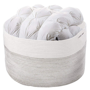 "3XL Baby Hamper Baskets Corner Laundry Basket for Pillow Blanket Storage Bin 23.6""D x 14.2""H"