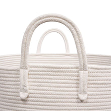 Load image into Gallery viewer, XXXL Gray Bathroom Storage Baskets Woven Rope Basket with Handles Clothes Hamper strong handles