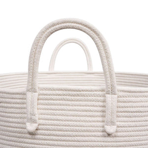 XXXL Gray Bathroom Storage Baskets Woven Rope Basket with Handles Clothes Hamper strong handles