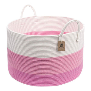 Timeyard XXXL Pin Storage Boxes Woven Rope Basket for Plush Stuffed Animals Baby Nursery