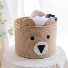 Load image into Gallery viewer, 10'' x 12'' Bear Basket Toy Storage Bin for Kids