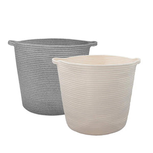 2 Pcs Baby Laundry Baskets with Handle Home Decor