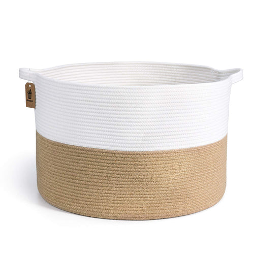 XXXLarge Cotton Rope Basket Woven Baby Laundry Basket