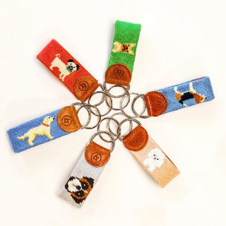 Popular Needlepoint Keychain Designs - Dogs