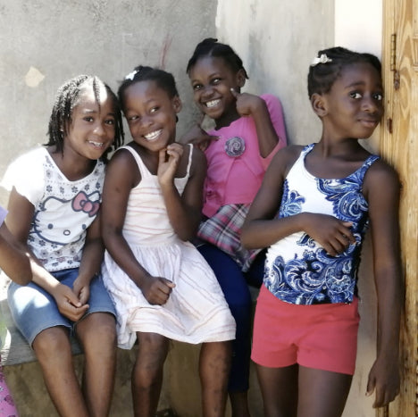 haitian children smiling