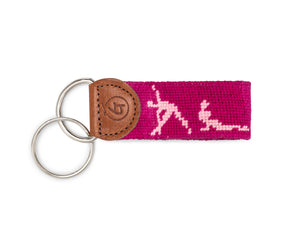 Sun Salutations Yoga Needlepoint Keychain