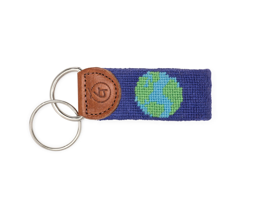 Good Earth Needlepoint Keychain