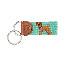 Labradoodle - golden brown on teal