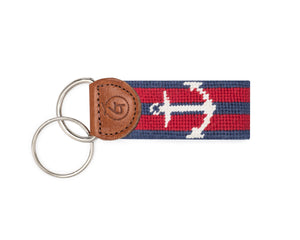 Anchor Needlepoint Keychain