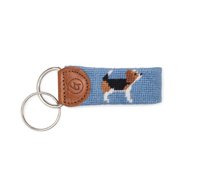 Beagle Needlepoint Keychain