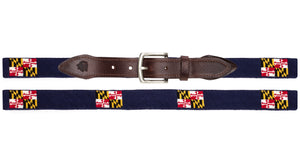 Maryland Flag Needlepoint Belt