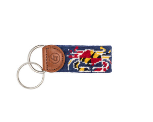 Maryland Flag Needlepoint Keychain