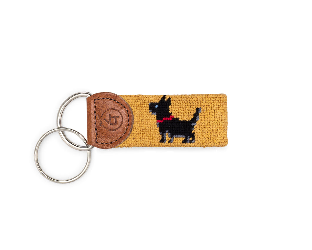 Scottie Needlepoint Keychain