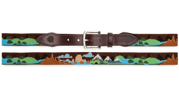 Camping Needlepoint Belt