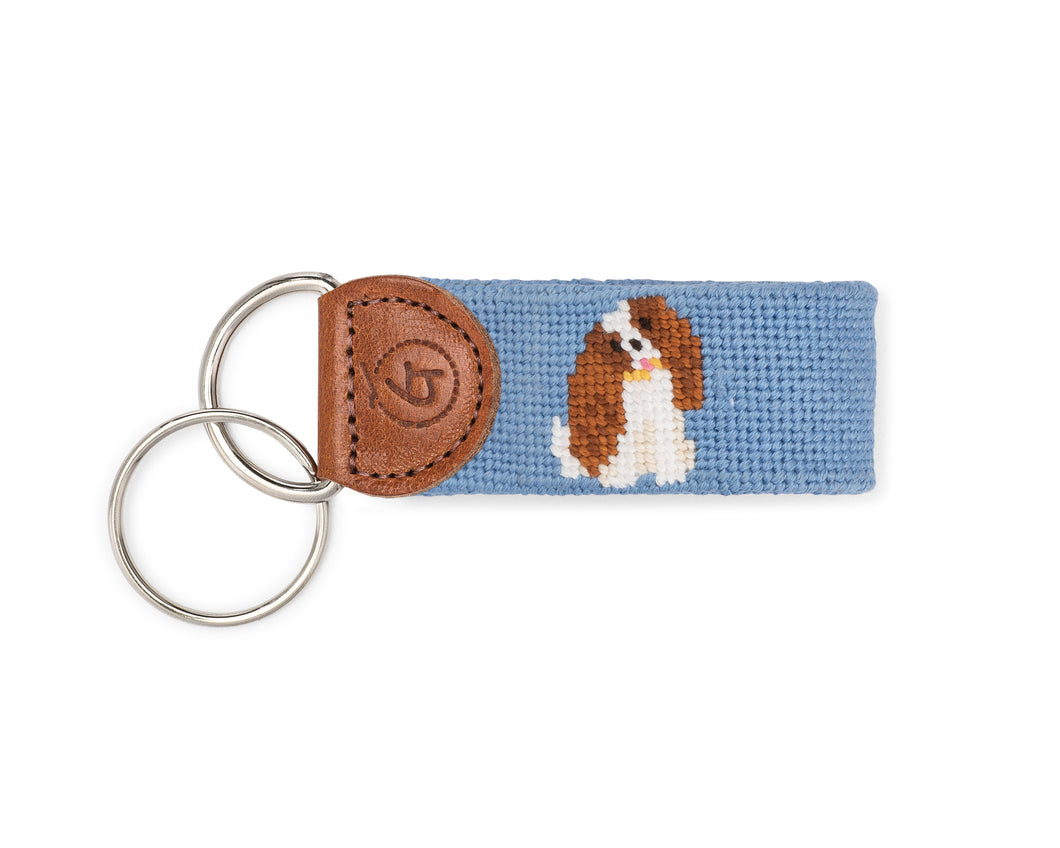 King Charles Cavalier Needlepoint Keychain