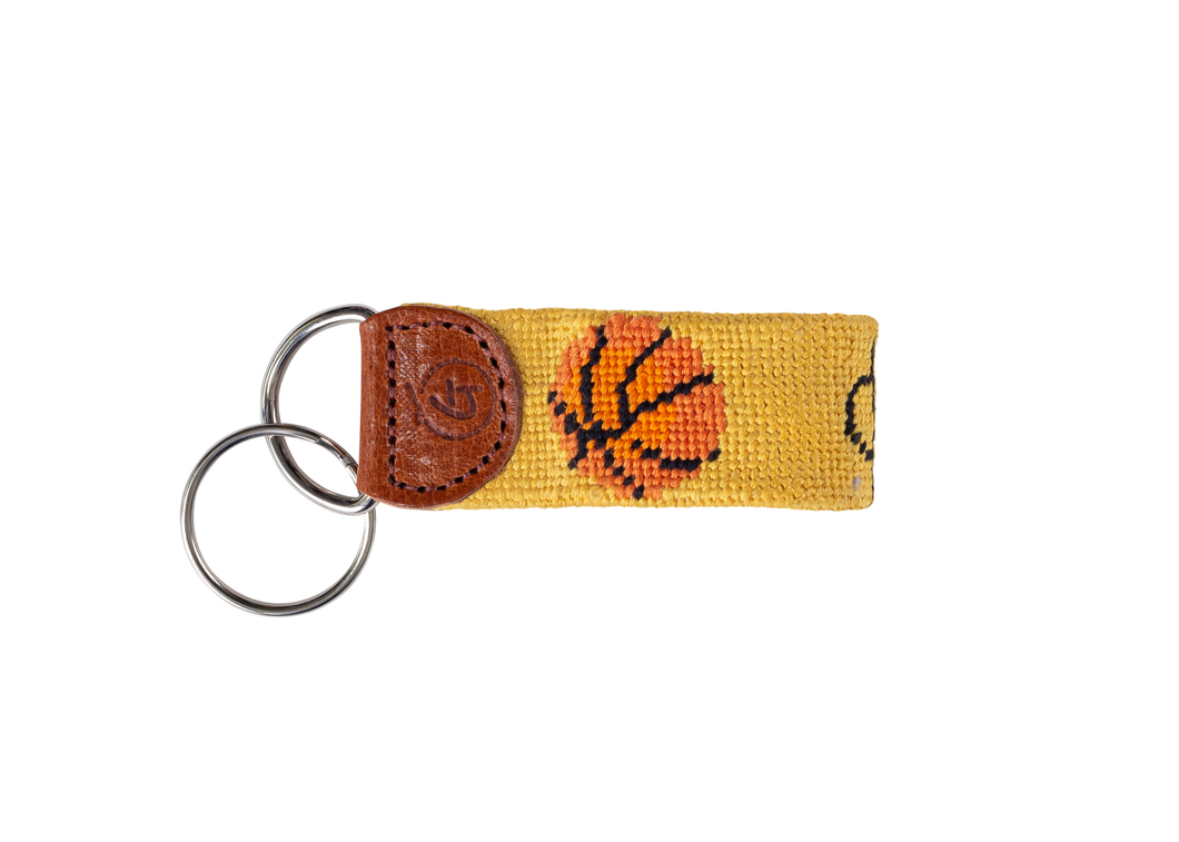 Basketball Needlepoint Keychain