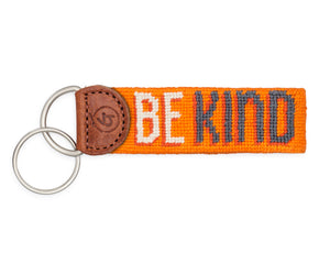 Be Kind Needlepoint Keychain