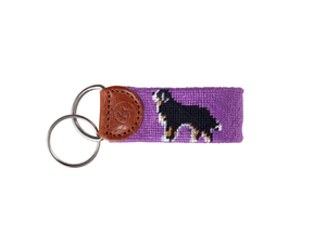 Bernese Mountain Dog Needlepoint Keychain