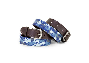 Youth Blue Camo Belt