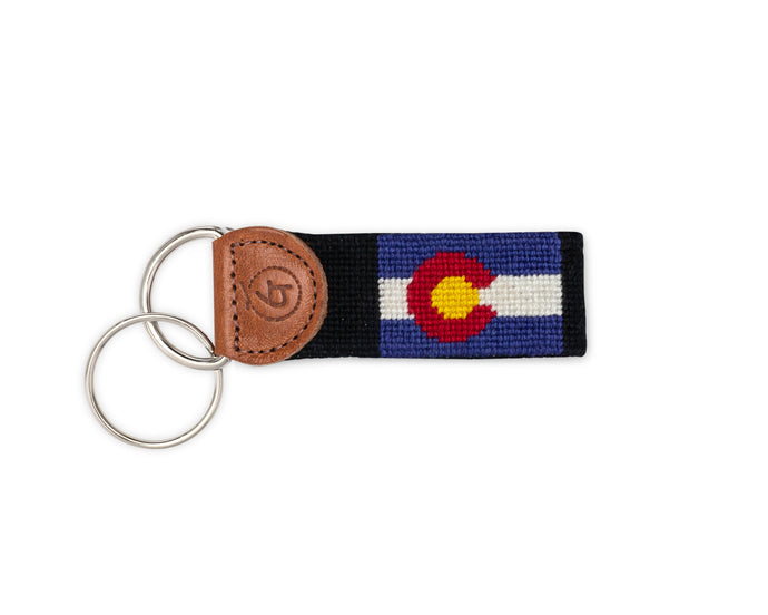 Colorado Needlepoint Keychain