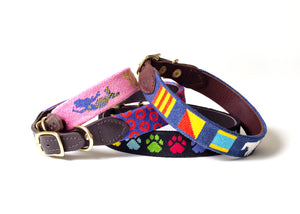 Custom Needlepoint Dog Collar