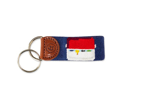Football Needlepoint Keychain