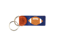 Load image into Gallery viewer, Football Needlepoint Keychain