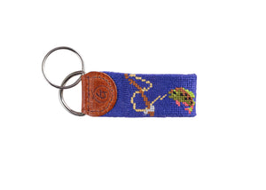 Gone Fishing Needlepoint Keychain