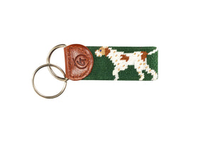 German Short-Haired Pointer Needlepoint Keychain