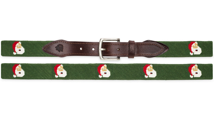Jolly Santa Needlepoint Belt