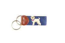 Load image into Gallery viewer, Labradoodle Needlepoint Keychain