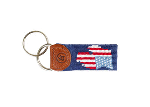 Michigan Silhouette Needlepoint Keychain