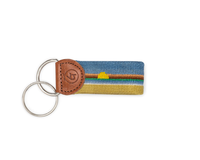 Sunset Needlepoint Keychain
