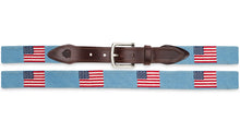 Load image into Gallery viewer, American Flag Needlepoint Belt Several Colors Available