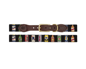 Bottles Of Beer Needlepoint Dog Collar