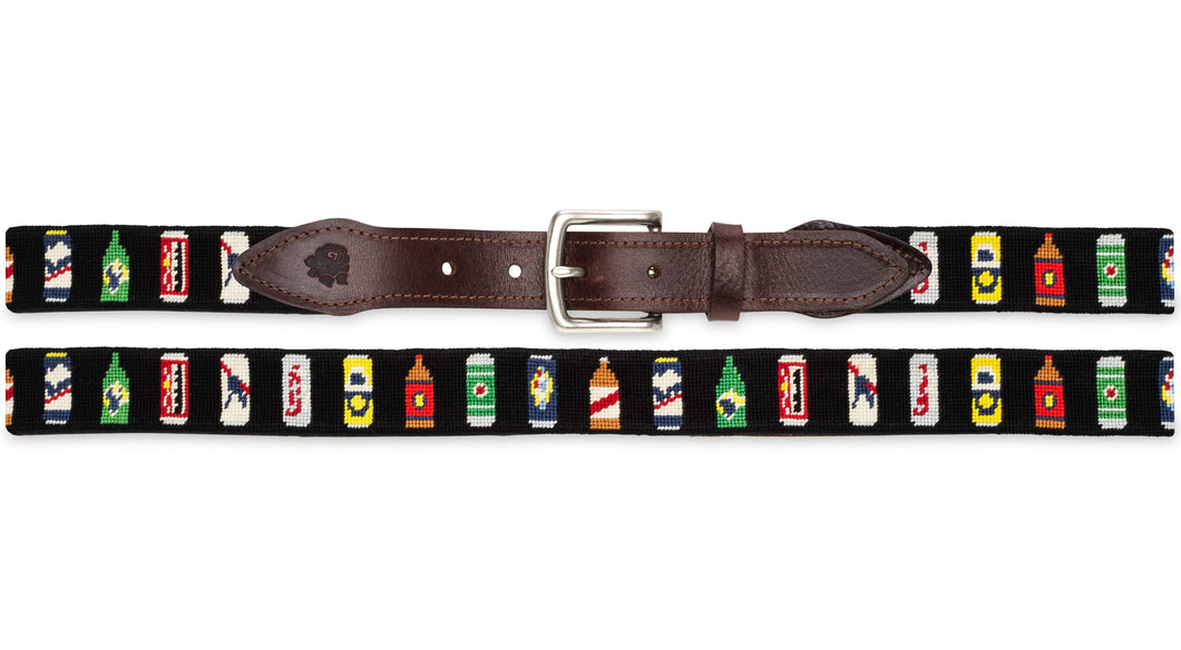 Bottles Of Beer Needlepoint Belt