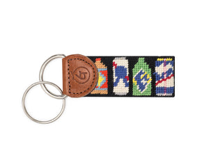Bottles of Beer Needlepoint Keychain