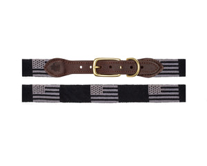 Black Flag Needlepoint Dog Collar