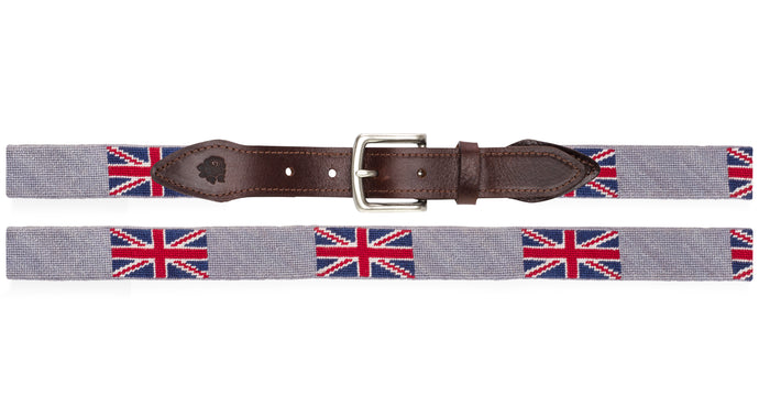 Union Jack Needlepoint Belt