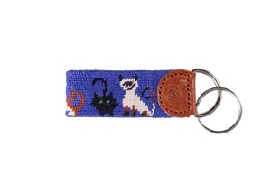 Cat Lovers Needlepoint Keychain