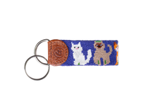 Load image into Gallery viewer, Cat Lovers Needlepoint Keychain